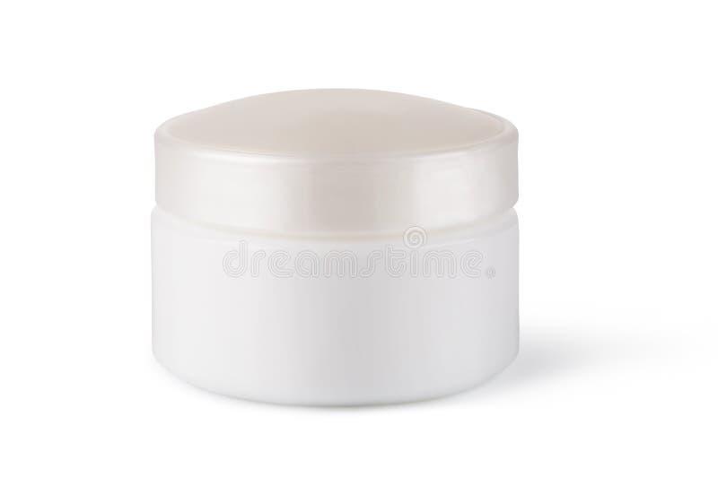 Barattolo o imballaggio in bianco per il prodotto cosmetico fotografie stock