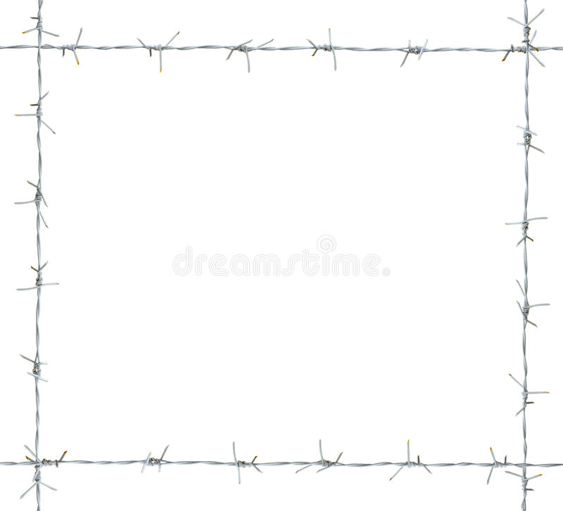 Barb frame. Isolated on white background. clipping path vector illustration
