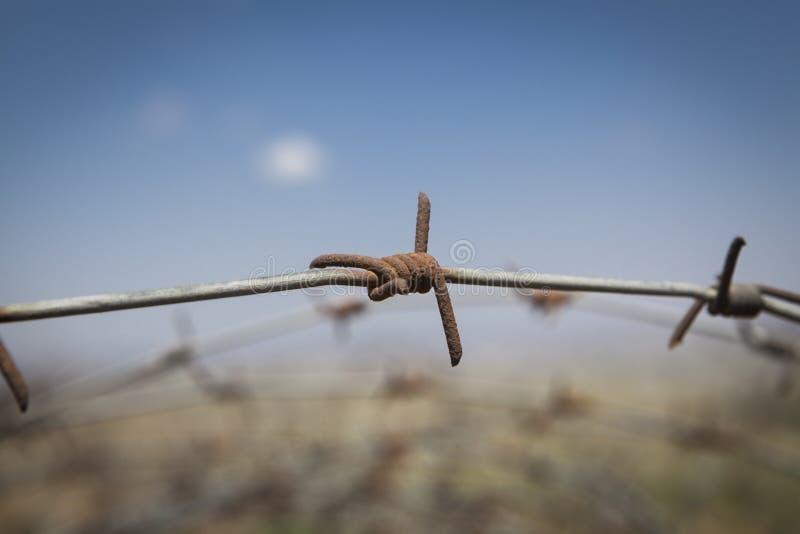 Barb Wire arrugginito immagine stock libera da diritti