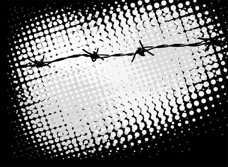 Barb wire background. With copy space for text royalty free illustration