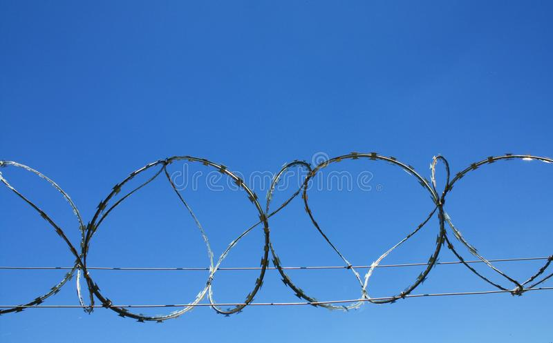 Barb Wire Prison Fence Royalty Free Stock Images