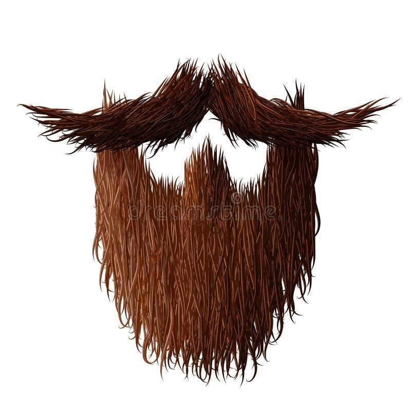 Barba de un hombre Fuerte, melenudo y rizado para ningún afeitado noviembre stock de ilustración