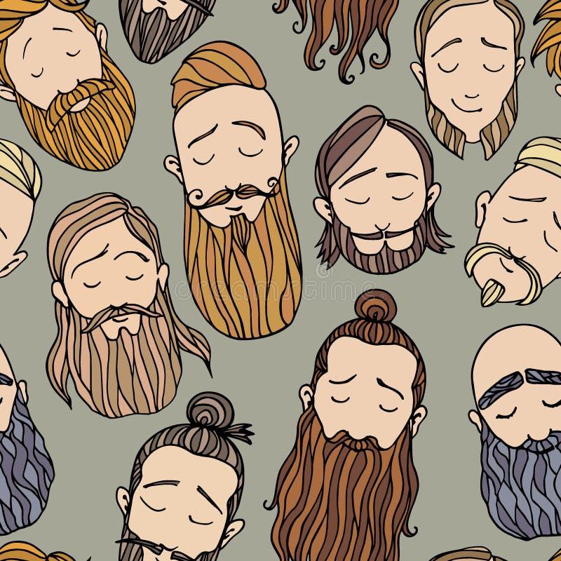 A barba denomina o teste padrão ilustração stock