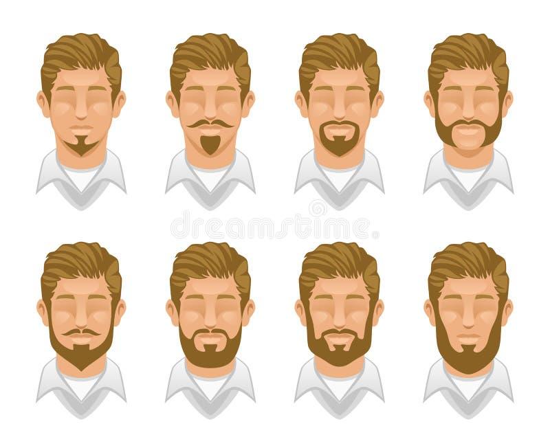 Assez Barba di stile illustrazione vettoriale. Immagine di brunet - 64256874 UK27