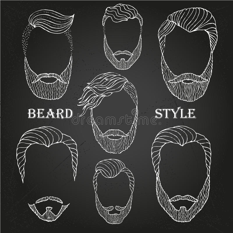 Barba dibujada mano libre illustration