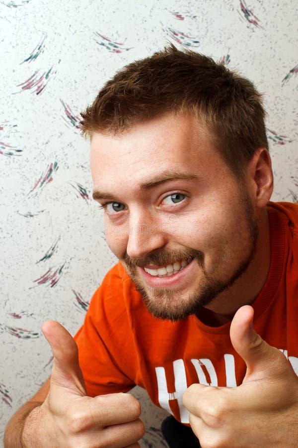 A barba do homem manuseia acima fotos de stock royalty free