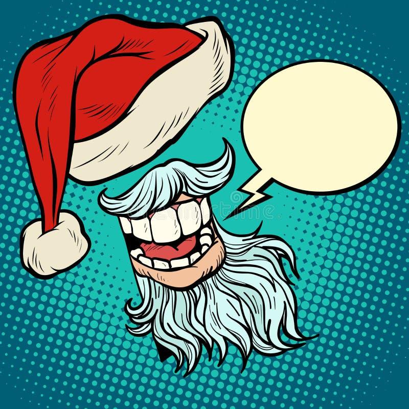 Barba e chapéu de Papai Noel ilustração do vetor