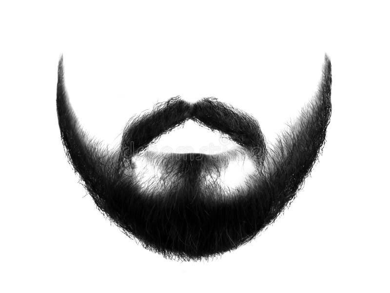 Barba nera isolata su fondo bianco fotografie stock