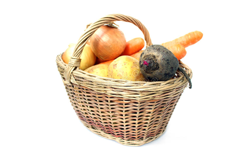 Barbabietole, carote, patate e cipolle immagini stock libere da diritti