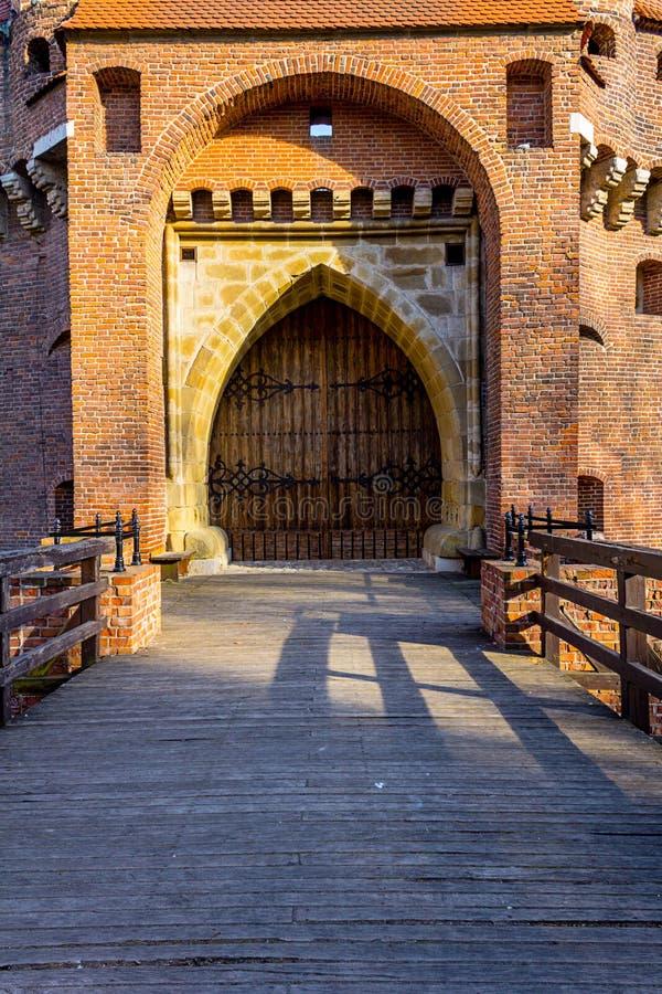 Barbacana histórica en Cracovia, Polonia fotos de archivo