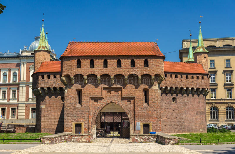 Barbacane de Cracovie - Pologne photographie stock libre de droits