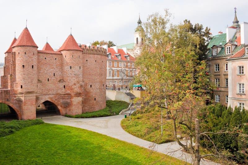 Barbacane de Varsovie images stock