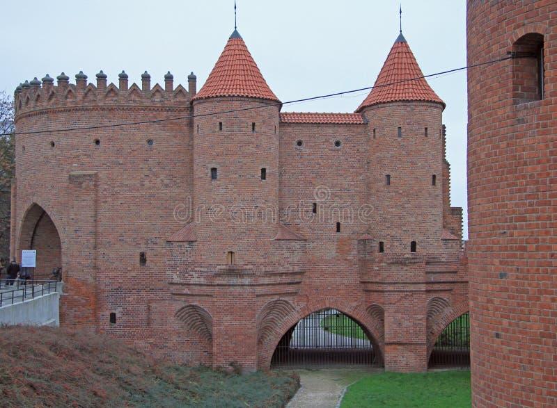 Barbacane de Varsovie, avant-poste enrichi semi-circulaire images libres de droits