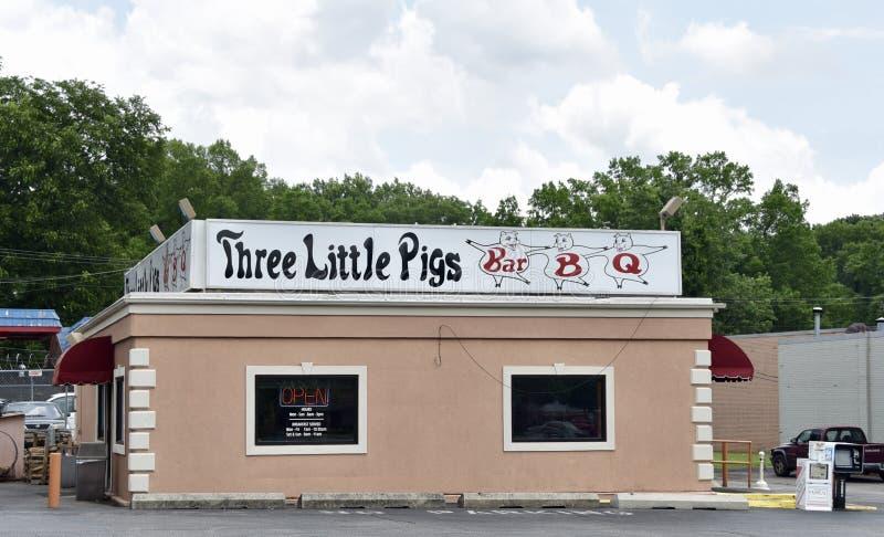 Barbacoa de tres pequeña cerdos, Memphis, TN imagenes de archivo
