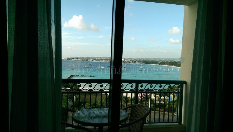Barbados beaches. Hilton hotel beaches of barbados royalty free stock photos
