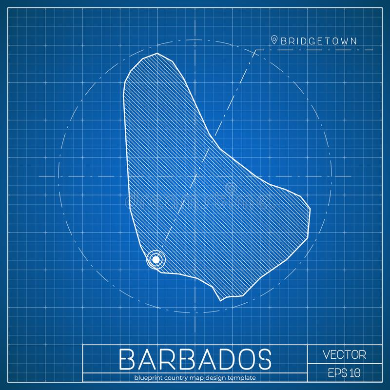 Barbados blueprint map template with capital city stock vector download barbados blueprint map template with capital city stock vector illustration of north malvernweather Images