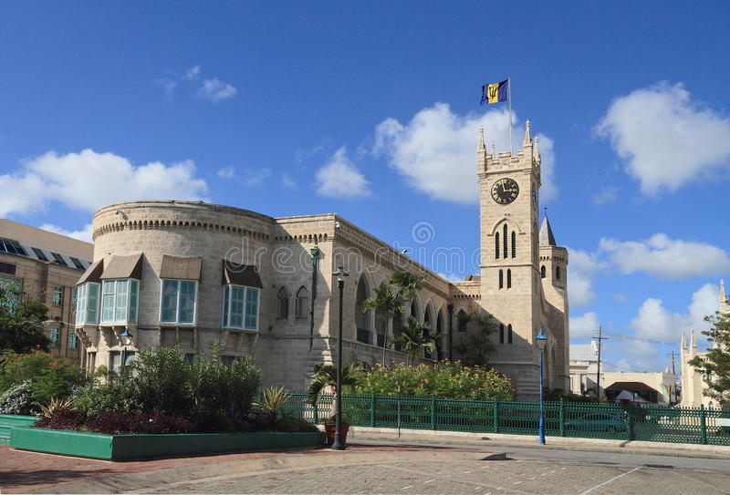 Barbados/Bridgetown: Parlament arkivbilder
