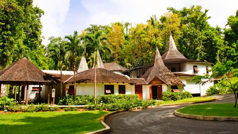 Barbados - Harrison Höhle-Hauptgebäude stockbilder