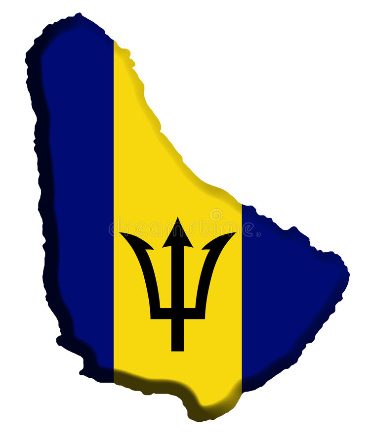 Barbados-Karte stock abbildung