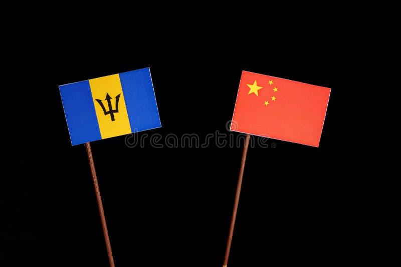 Download Barbados Kennzeichnen Mit Der Chinesischen Flagge, Die Auf Schwarzem Lokalisiert Wird Stockbild - Bild von geschäft, porzellan: 96933817