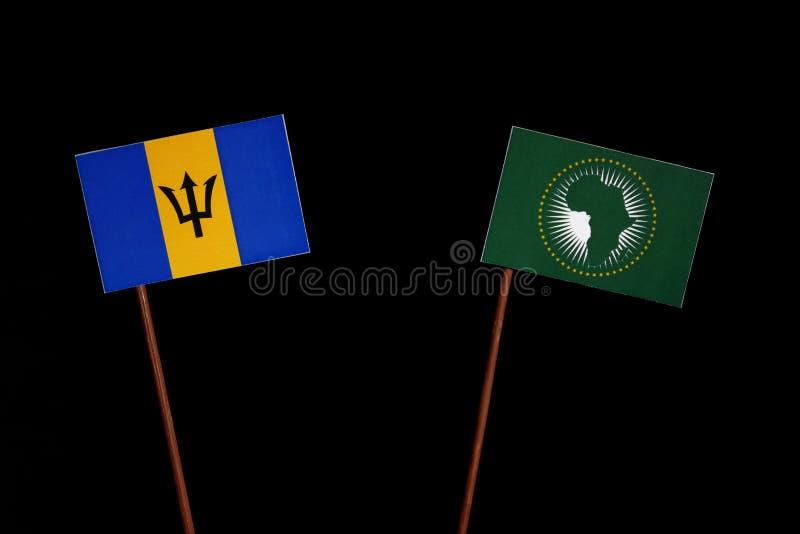 Download Barbados Kennzeichnen Mit Der Flagge Der Afrikanischen Union, Die Auf Schwarzem Lokalisiert Wird Stockbild - Bild von emblem, barbados: 96934075