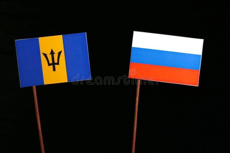 Download Barbados Kennzeichnen Mit Der Russischen Flagge, Die Auf Schwarzem Lokalisiert Wird Stockbild - Bild von konzept, konkurrenz: 96934087