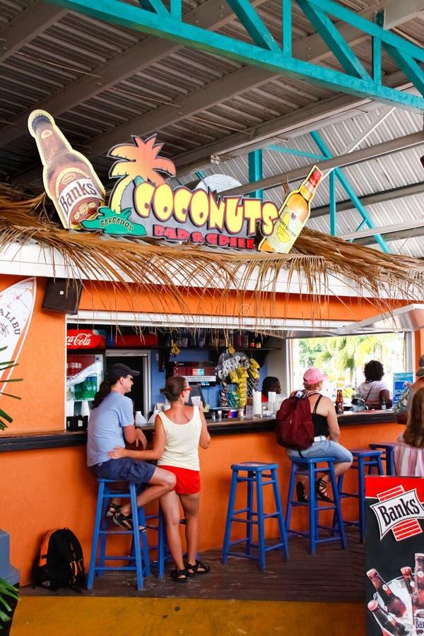 Barbados - Kokosnoten van de Staaf van de Cruise de Eind royalty-vrije stock foto