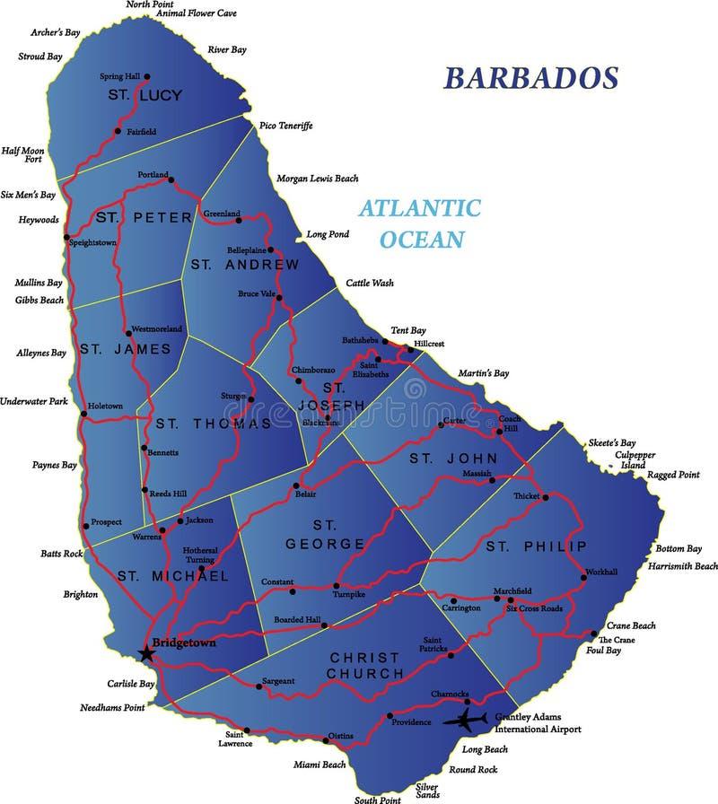 Barbados map stock vector Illustration of caribbean 22847870