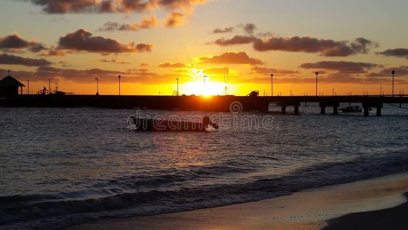 Barbados na noite imagens de stock