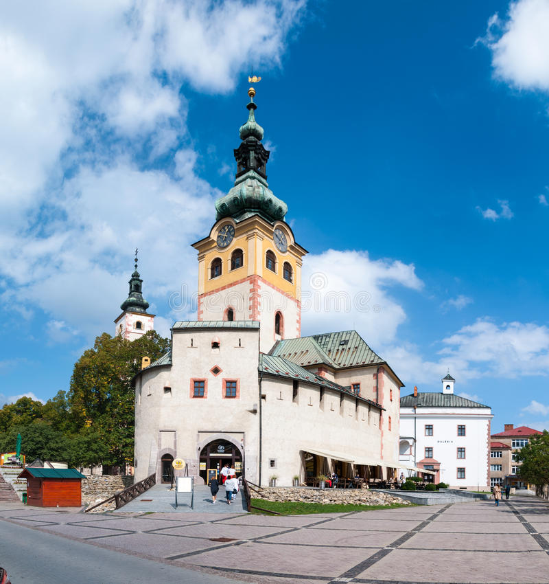Barbakan镇城堡, Banska Bystrica 库存图片