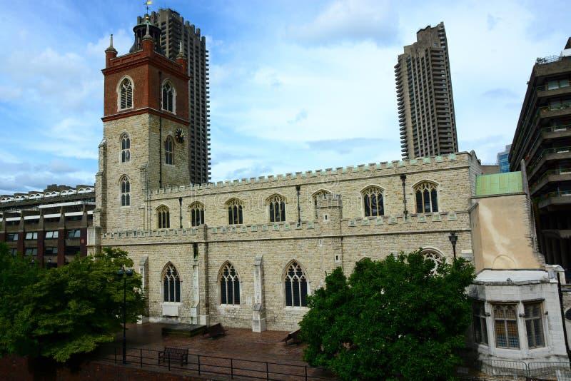 Barbakan i kościół obrazy royalty free