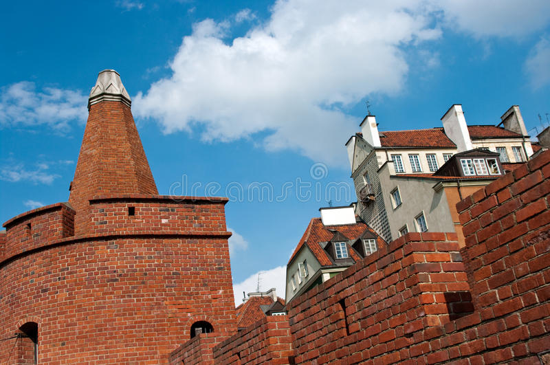 Download Barbakan, Warsaw, Poland stock photo. Image of round - 20812490