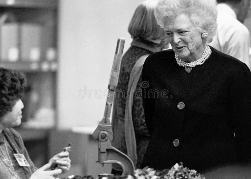 Barbara Bush, primeira senhora fotografia de stock