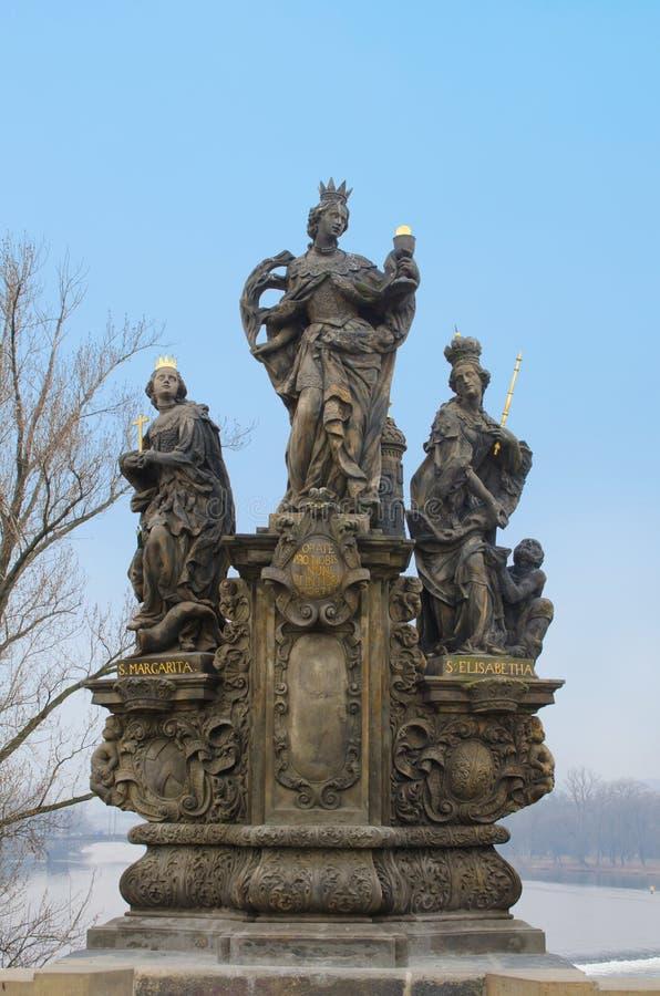 barbara Elizabeth Margaret Prague st statua obraz stock