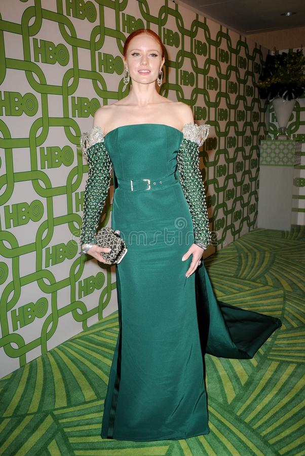 Barbara Meier. At the HBO`s 2019 Official Golden Globe Awards After Party held at the Circa 55 Restaurant in Beverly Hills, USA on January 6, 2019 royalty free stock photo