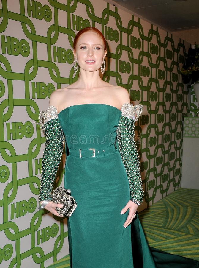 Barbara Meier. At the HBO`s 2019 Official Golden Globe Awards After Party held at the Circa 55 Restaurant in Beverly Hills, USA on January 6, 2019 stock photos
