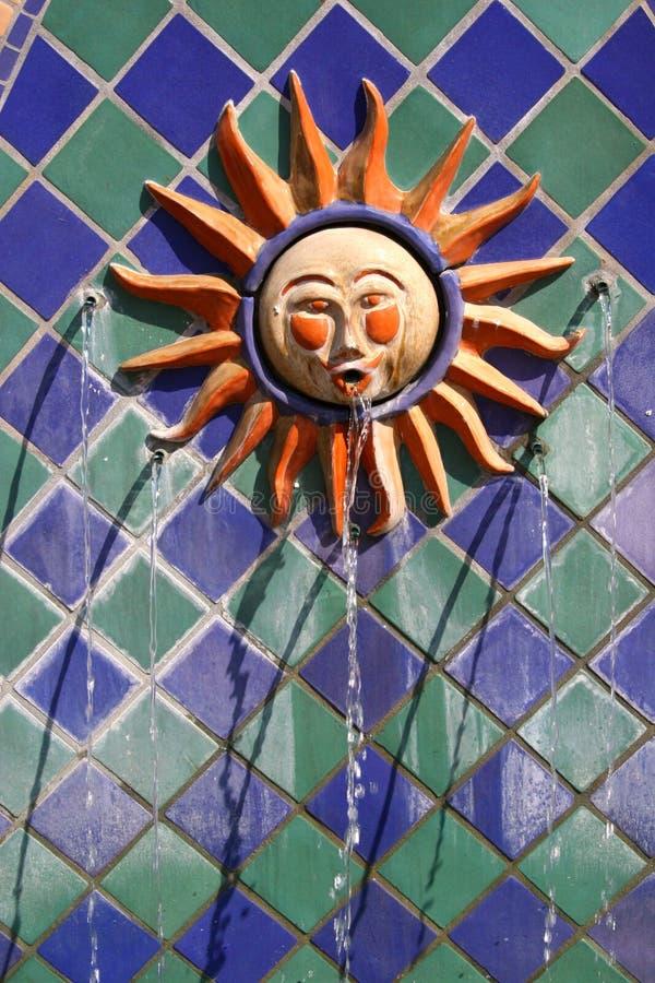 barbara springbrunnsanta sun royaltyfria foton