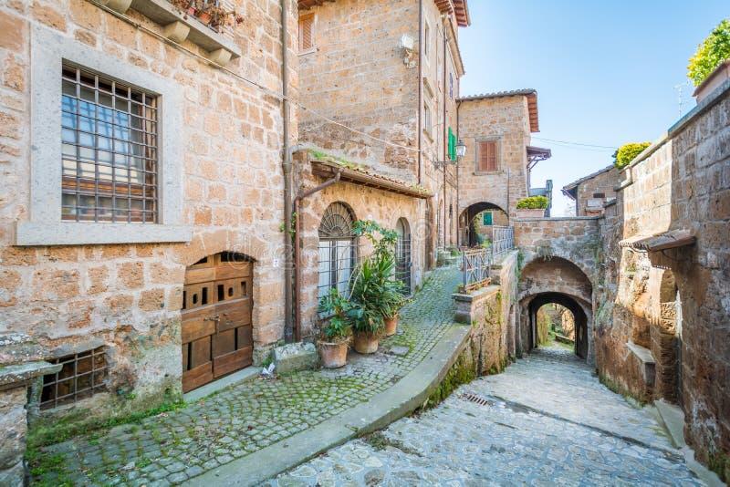 Scenic sight in Barbarano Romano, medieval village in Viterbo Province, Lazio, Italy. Barbarano Romano is a comune in the Province of Viterbo in the Italian stock photography
