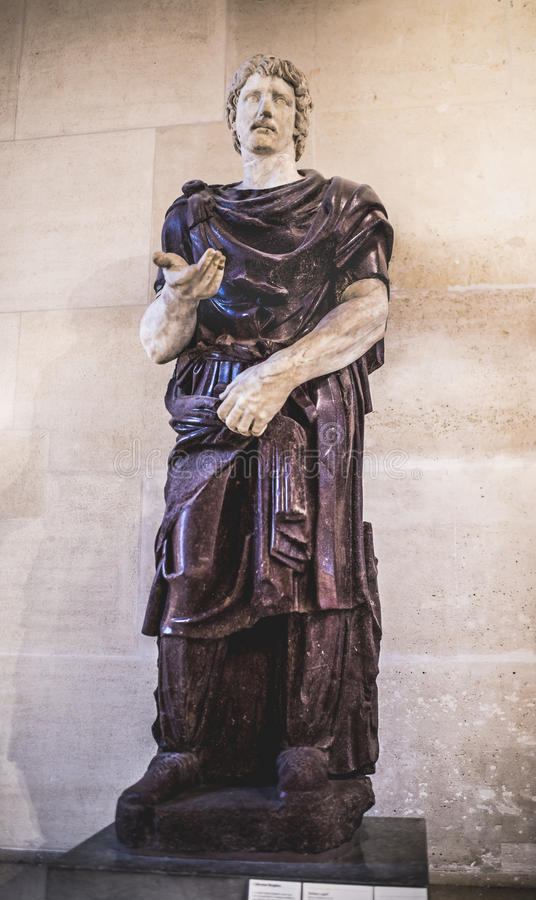 Barbare captif Samlingen av Borghese luftventil arkivfoto