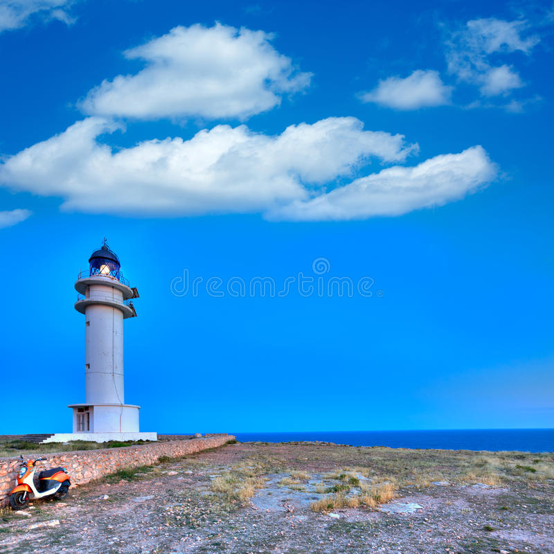 Barbaria Berberia Cape Lighthouse Formentera Stock Image