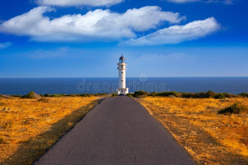 Barbaria-Kap Leuchtturm in Formentera-Baleareninseln lizenzfreies stockbild