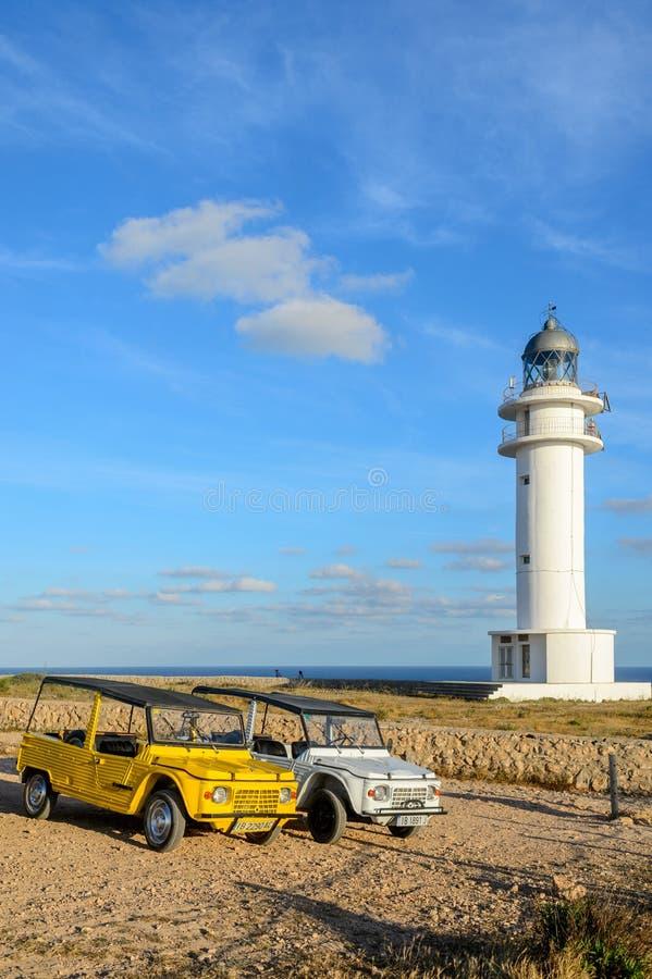 Barbaria-Leuchtturm, Formentera stockfoto