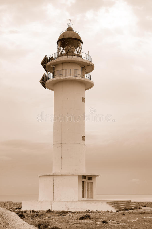 Barbaria lighthouse. Barbaria cape lighthouse in Formentera Balearic island royalty free stock photo