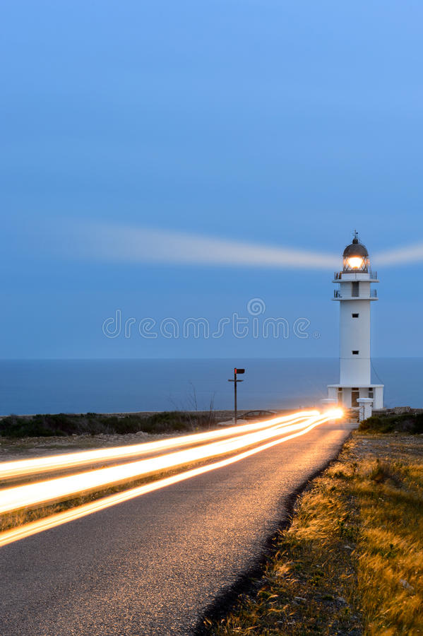 Barbaria Lighthouse Formentera royalty free stock images