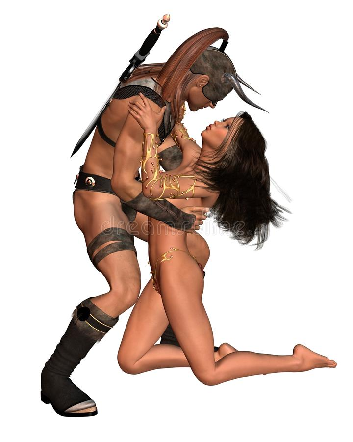 Download Barbarian Fantasy Couple stock illustration. Image of couple - 20542942