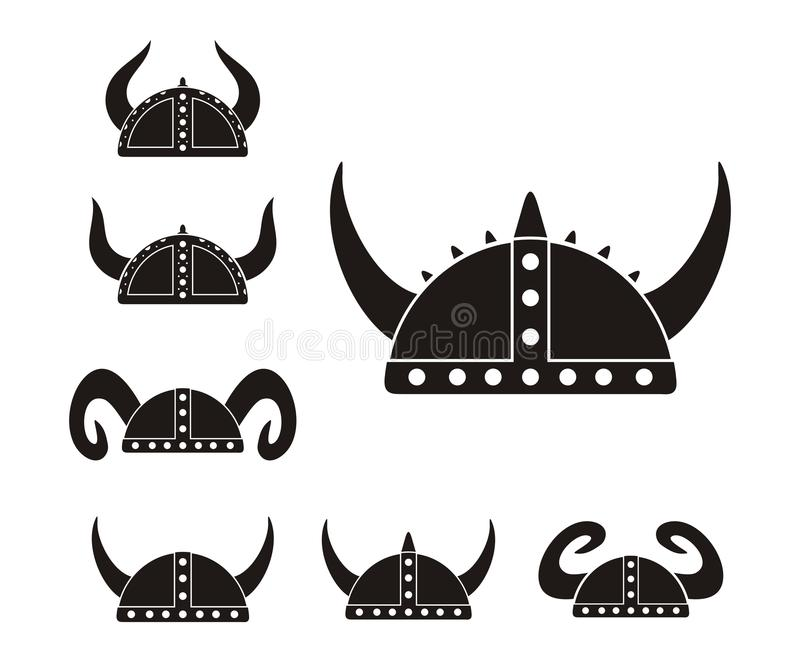 Barbarian helmet - pictogram. Suitable for illustrations royalty free illustration