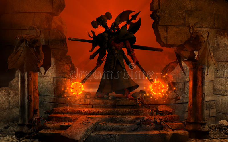 Download Barbarian Warlord stock illustration. Illustration of generated - 11128800
