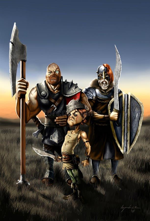 barbarians imagem de stock royalty free