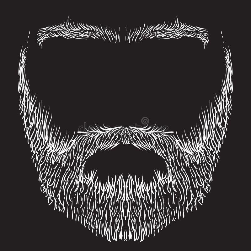 Barbe, moustache, sourcils illustration libre de droits