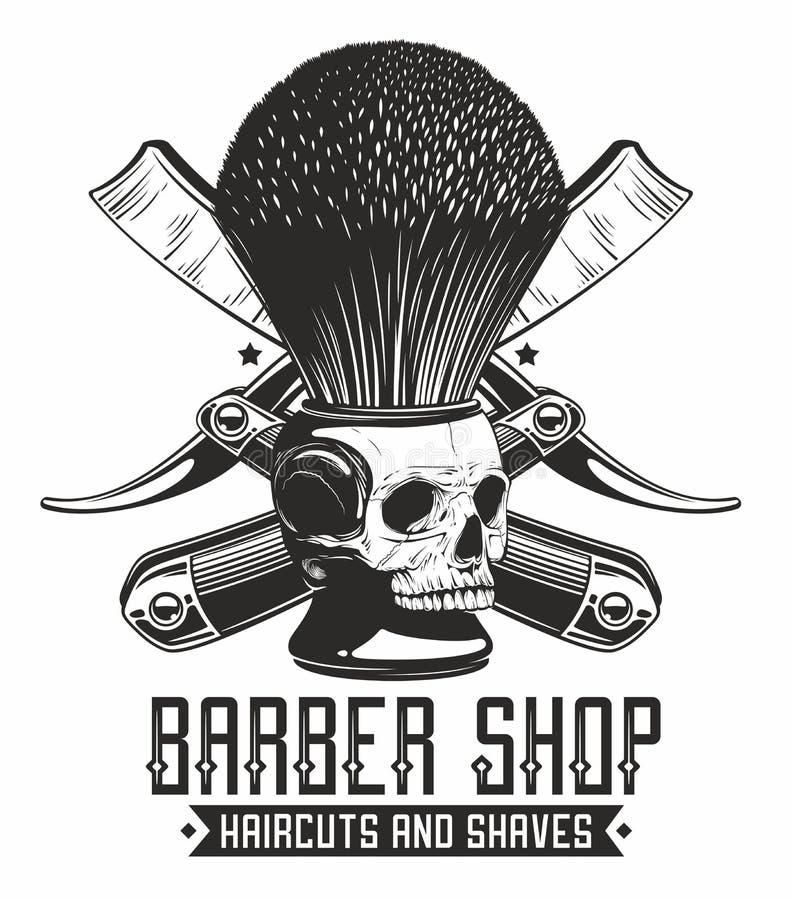 Barbe shoppar logo royaltyfri illustrationer
